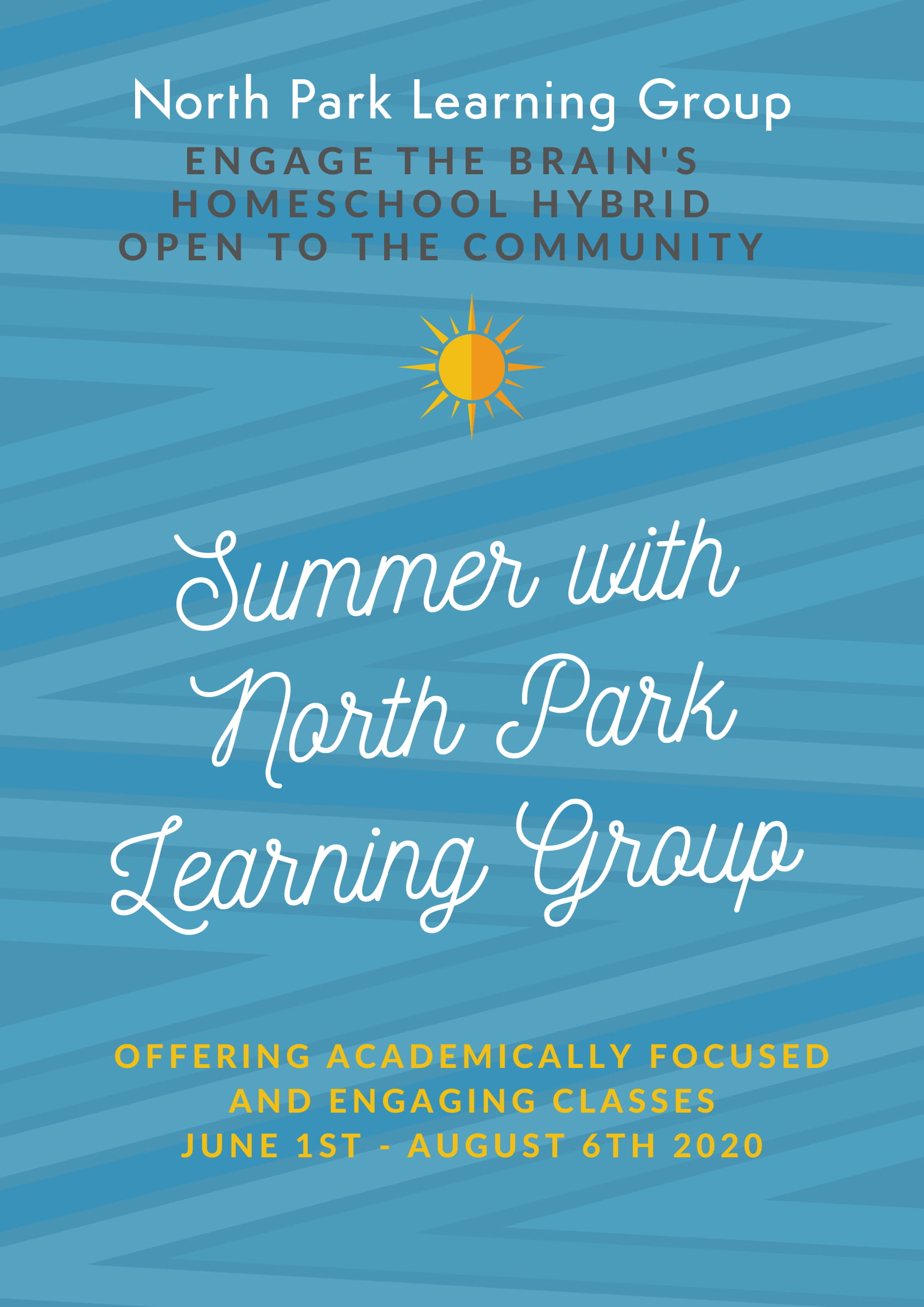 North Park Learning Group Summer Classes-6-1